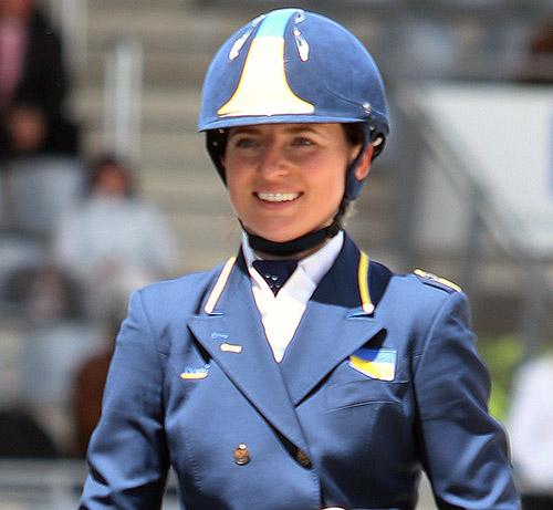 Inna Logutenkova of Ukraine. File photo © Ken Braddick/dressage-news.com