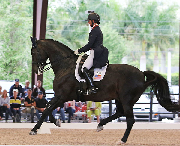 Kasey Perry Glass and Dublet placed second individually in the Nations Cup Grand Prix to help give © 2016 Ken Braddick/dressage-news.comthe United States to a commanding lead.