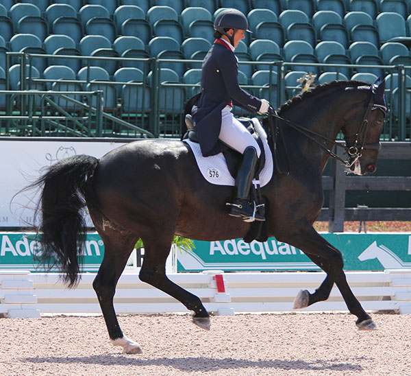 Kasey Perry-Glass and Dublet in the CDI4* Grand Prix. © 2016 Ken Braddick/dressage-news.com