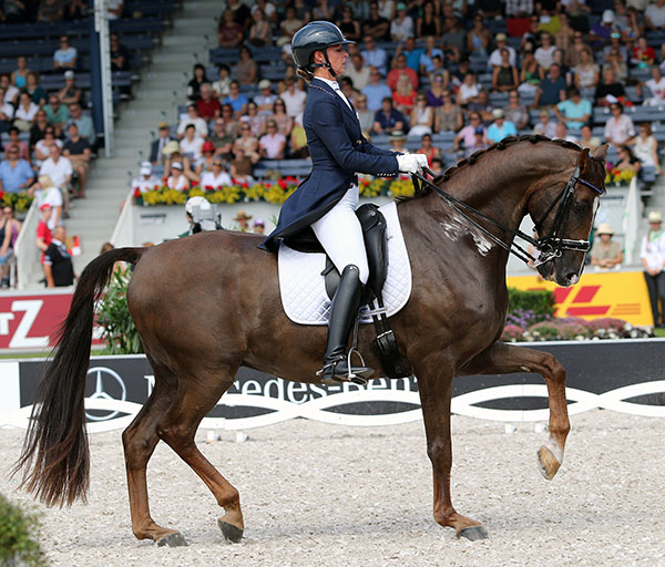 Russia's Marina Aframeeva and Vosk. File photo. © Ken Braddick/dressage-news.com
