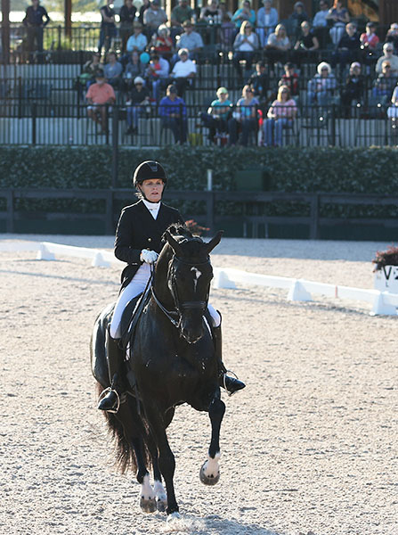 Ashley Holzer and Dressed in Black in the Tryon CDI3* Grand Prix Freestyle. © 2016 Ken Braddick/dressage-news.com