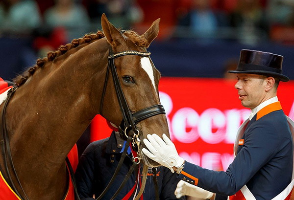 World Cup champions Hans Peter Minderhoud and Glock's Flirt.