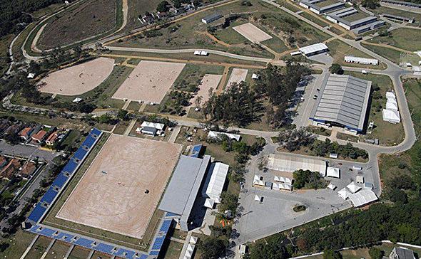 Olympic equestrian venue in Deodoro outside Rio de Janeiro.