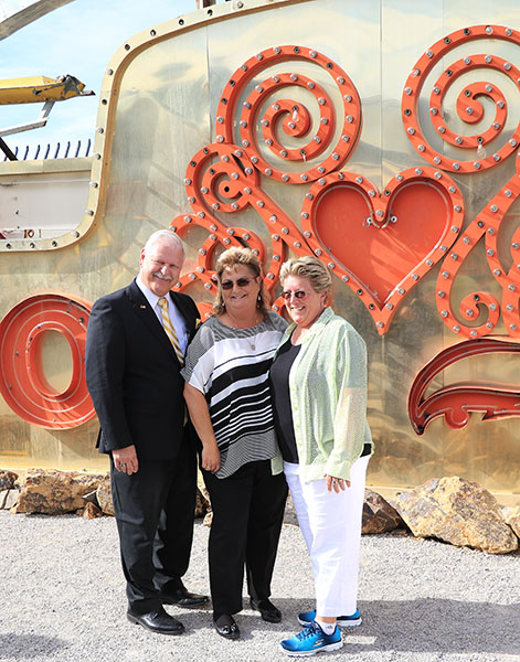 Equestrian photographer Susan J. Stickle and Jonna J. Koellhoffer wed and, from the background, one guess where--Las Vegas. The Florida-based couple, long time friends and contributors to dressage-news.com, are also well known for rescuing abandoned and abused dogs. Photo courtesy Al Guden