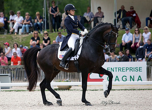Allison Brock and Rosevelt competing at Compiègne. © 2016 Lily Forado for dressage-news.com