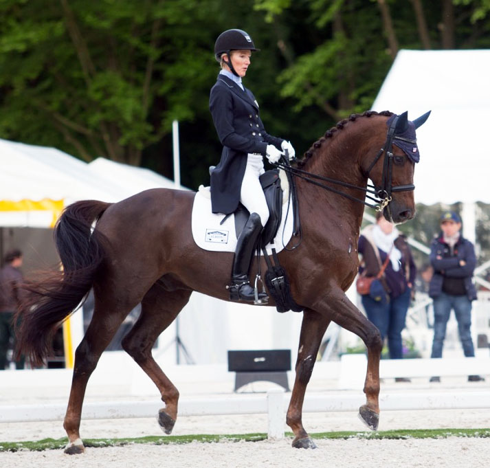 "Arlene ""Tuny"" Page and Woodstock at Compiègne, © 2016 Lily Forado for dressage-news.com"