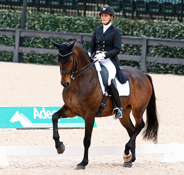 Ashley Holzer and Arthur. © 2016 Ken Braddick/dressage-news.com