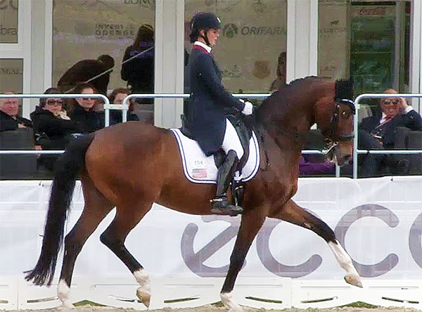 Beatrice Marienau and Stefano at Odense, Denmark, the first U.S. team competition for the pair.