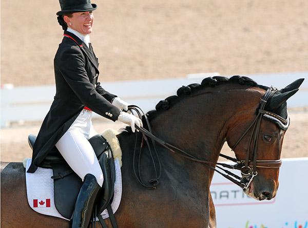 Belinda Trussell and Anton. © Ken Braddick/dressage-news.com