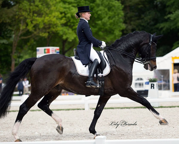 Jenny Lang-Nobbe and Loverboy, the highest placing pair for Germany in the Nations Cup. © 2016 Lily Forado fpr dressage-news.com