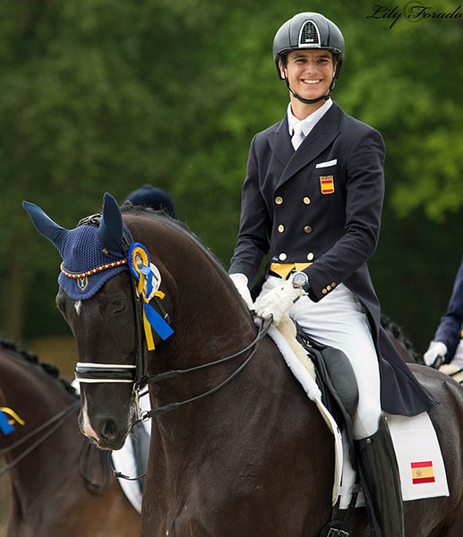 Juan Matute and Dhannie Ymas at Compiègne. © 2016 Lily Forado for dressage-news.com
