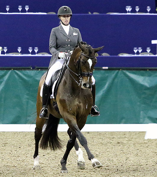 Karen Pavicic and Don Daiquiri in the CDI4* Grand Prix Freestyle. © 2016 Ken Braddick/dressage-news.com