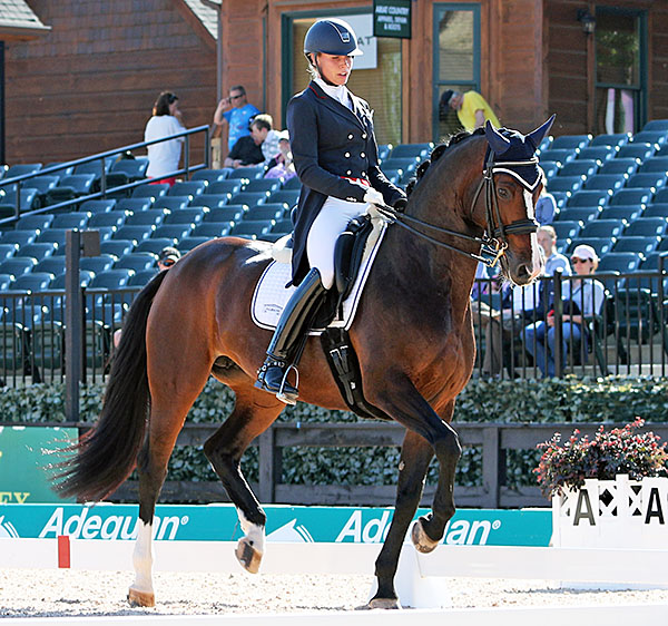 Megan Lane and Caravella. © 2016 Ken Braddick/dressage-news.com