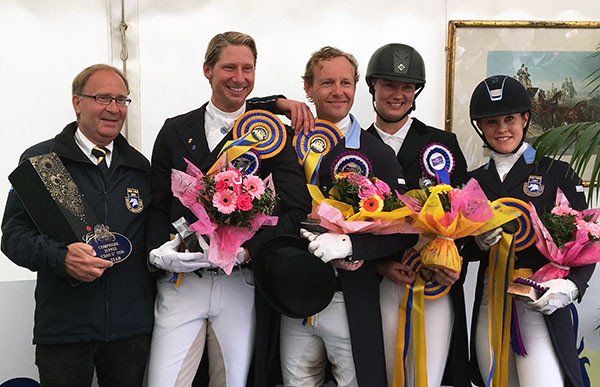 The Sweden silver medal team. © 2016 Lily Forado for dressage-news.com