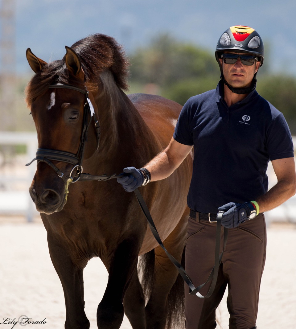 Jose Daniel Martin Dockx with Bolero, another Florida connection as the horses owned by Hampton Green Farm that also owns Dani's Olytmpic mount, Grandioso that was excused from the championships after recovering from an injury. © 2016 Lily Forado for dressage-news.com