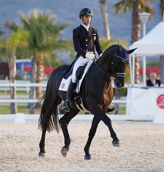 Juan Matute, Jr. competing at the Spanish Championships. © 2016 Lily Forado for dressage-news.com