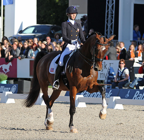 Laura Graves on Verdades competing in Europe. © 2016 Ken Braddick/dressage-news.com