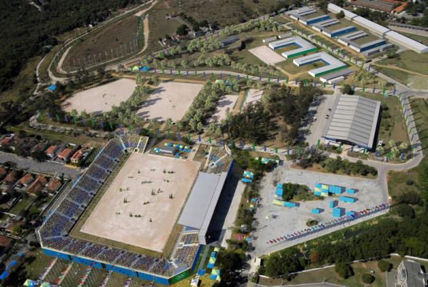 The Olympic equestrian center at Deodoro near Rio de Janeiro.