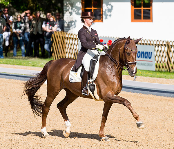 Victoria Max-Theurer and Blind Date competing at Achleiten, their home grounds. © 2016 Michael Rzepa
