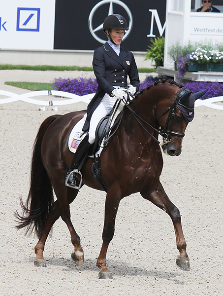 "Arlene ""Tuny"" Page and Woodstock competing inthe CDIO5* Nations Cup Grand Prix at Aachen. © 2016 Ilse Schwarz/dressage-news.com"
