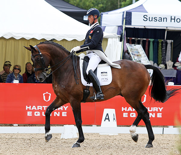 Carl Hester on Nip Tuck at Haretpury Festival of Dressage, the final CDI for the pair before the Olympic Games next month. © 2016 Ken Braddick/dressage-news.com