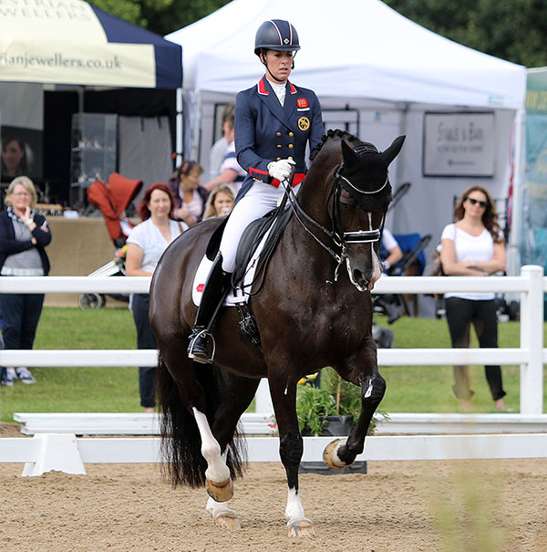 Valegro ridden by Charlotte Dujardin in the Hartpury Festival of Dressage CDI3* Grand Prix. © 2016 Ken Braddick/dressage-news.com