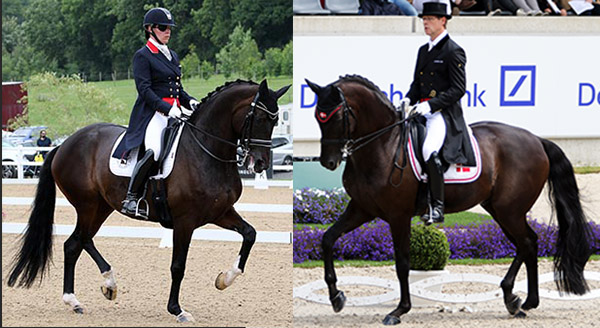 Fiona Bigwood on Orthilia and Anders Dahl on Selten. © 2016 Ken Braddick/dressage-news.com