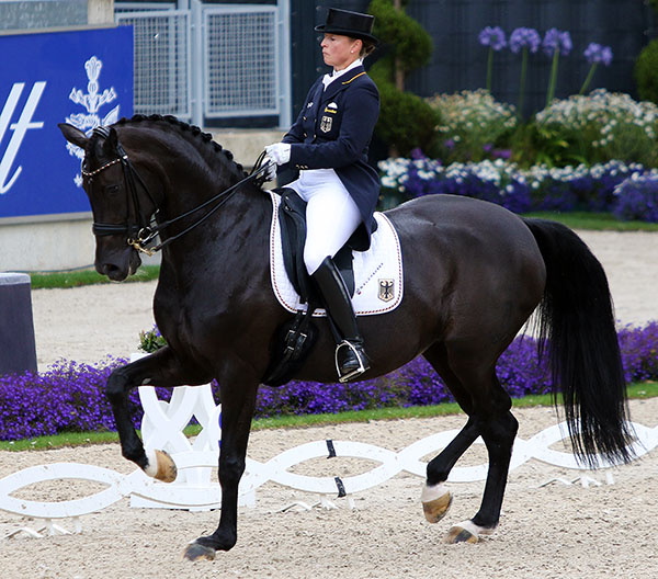 Isabell Werth riding Weihegold OLD in the Aachen CDIO5* Nations Cup. © 2016 Ken Braddick/dressage-news.com