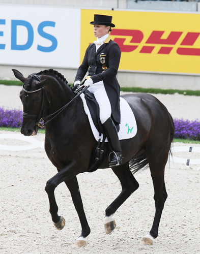 Isabell Werth and Weihegold OLD highlighted their extraordinary piaffe throughout the Freestyle© Ilse Schwarz/dressage-news.com