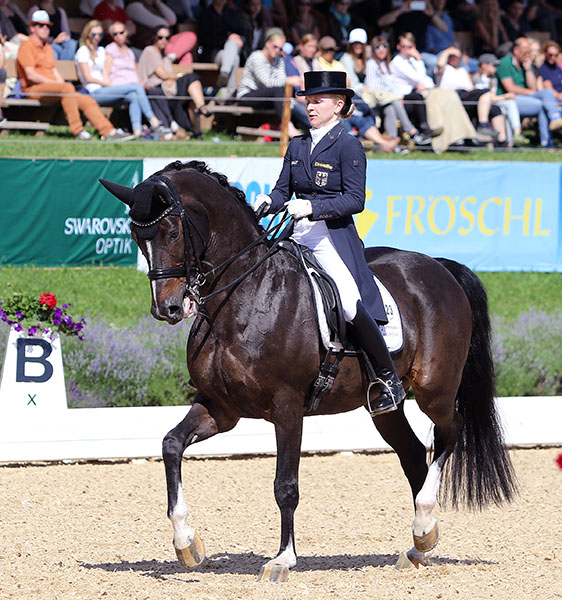 Jenny Lang-Nobbe and Loverboy in the Schindlhof CDI4* Grand Prox Freestyle. © 2016 Ken Braddick/dressage-news.com