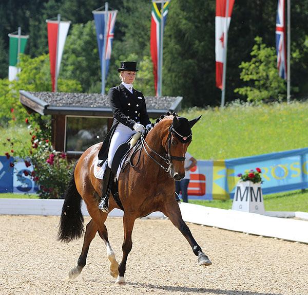 Jessica von Bredow-Werndl on Zaire in the Schindlhof CDI3*. © Ken Braddick/dressage-news.com