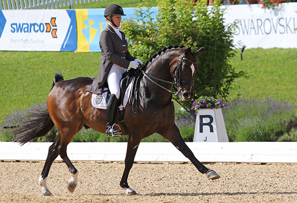 Karen Pavicic on Don Daiquiri in Austria © 2016 Ken Braddick/dressage-news.com