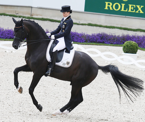 World No. 1 Kristina Bröring,-Sprehe and Desperados FRH in the Nations Cup Grand Prix. © Ilse Schwarz/dressage-news.com