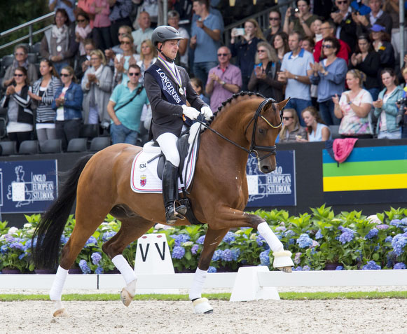 Sascha Schulz and Quel Filou in the  World Breeding Dressage Championships for Young Horses. © 2016 DigiShots
