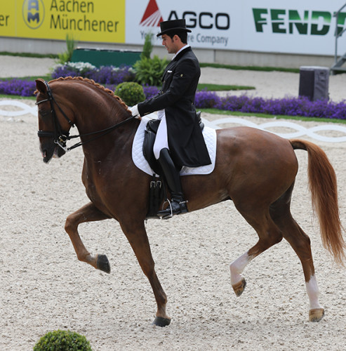 Severo Jesus Jurado Lopez and Lorenzo showed extraordinary gaits through the freestyle © Ilse Schwarz/dressage-news.com