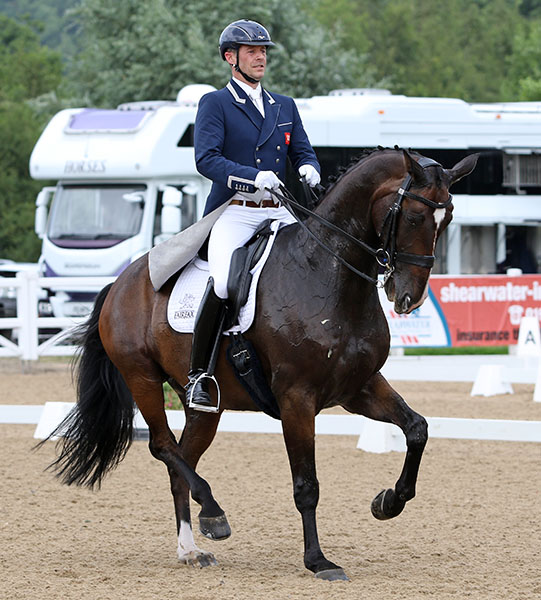Spencer Wilton on Super Nova II that are on Great Britain's Olympic team. © 2016 Ken Braddick/dressage-news.com
