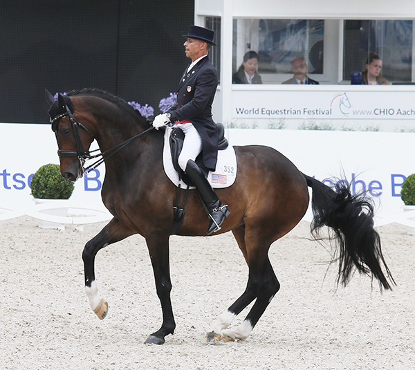 Steffen Peters and Legolas in the Nations Cup Grand Prix Special. 2016 Ilse Scgwarz/dressage-news.com