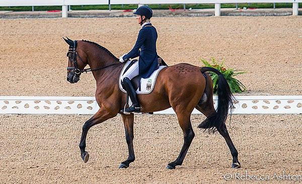 Ingred Klimke of Germany on Hale Bob OLD. Photo Courtesy The Horse Magazine/©Rebecca Ashton