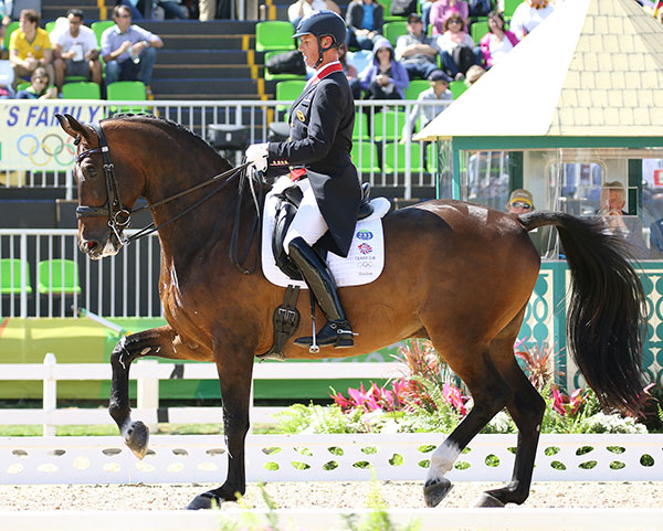 Carl Hester on Nip Tuck at the Rio Olympics. © 2016 Ken Braddick/dressage-news.com