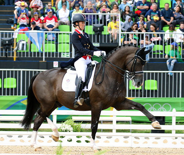 Charlotte Dujardin and Valegro will be the last of the 31 combinations to start the Grand Prix Special to decide Olympic team medals. © 2016 Ken Braddick/dressage-news.com