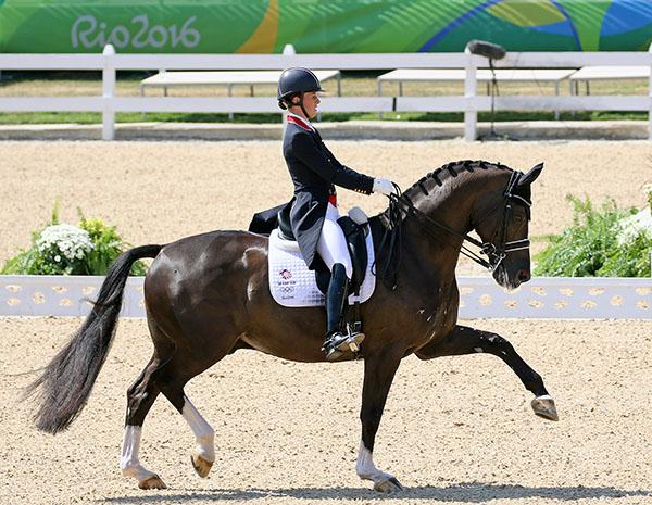 Charlotte Dujardin and Valegro in the Olympic Grand Prix Freestyle in Rio de Janeiro. © 2016 Ken Braddick/dressage-news.com