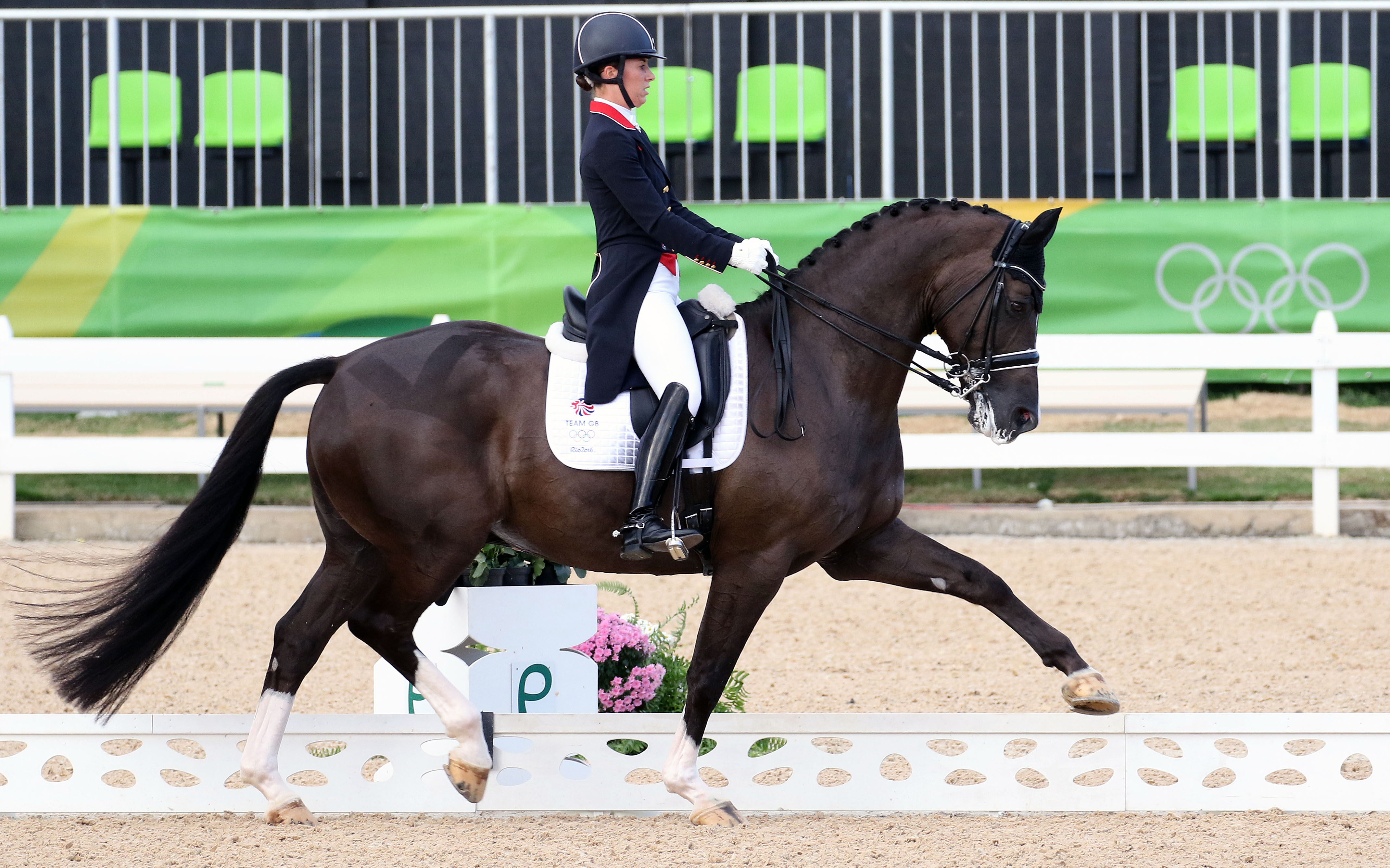 Charlotte Dujardin and Valegro are so talented to recover from a dramatic loss of points in the Grand Prix Special. © 2016 Ken Braddick/dressage-news.com