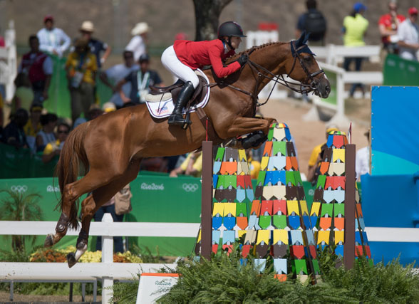 USA's Lucy Davis on Barron at the Olympic Games in Rio. © Hippo Foto/Dirk Caremans 16/08/16