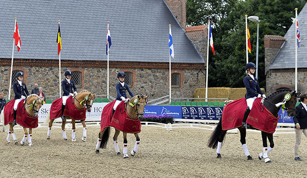 German gold medal team at the European Pony Championships. © 2016 Ridehesten.com