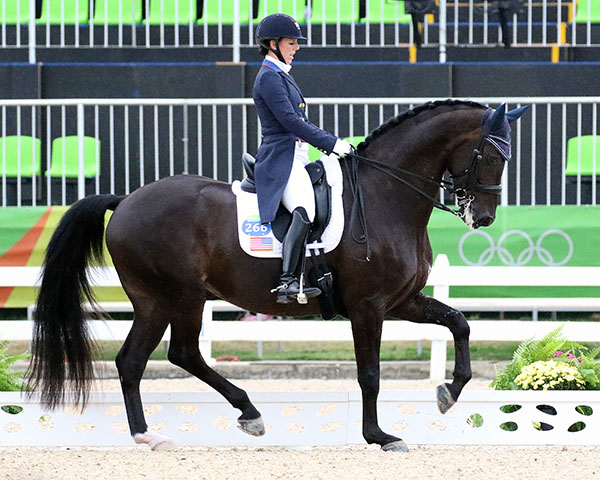 Kasey Perry-Glass and Dublet putting USA in a strong position in Olympic dressage Grand Prix. © 2016 Ken Braddick/dressage-news.com