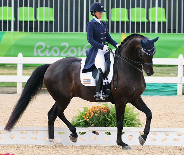 Kasey Perry-Glass on Dublet in the Grand Prix Special riding for an Olympic team medal. © 2016 Ken Braddick/dressage-news.com
