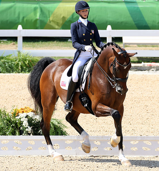 Laura Graves and Verdades in the Olympic Grand Prix Freestyle. © 2016 Ken Braddick/dressage-news.com