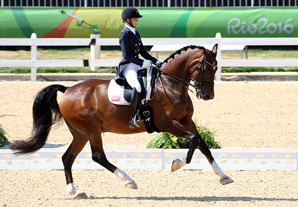 Laura Graves and Verdades in the Olympic Grand Prix Freestyle to decide individual medals. © 2016 Ken Braddick/dressage-news.com