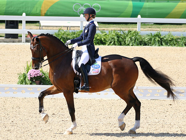 Laura Graves and Verdades in the Olympic Grand Prix Freestyle. © 2016 Ken Braddick/dressage.news.com