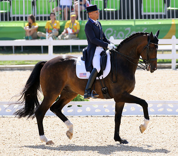 Steffen Peters on Legolas in the Olympic individual competition. © 2016 Ken Braddick/dressage-news.com